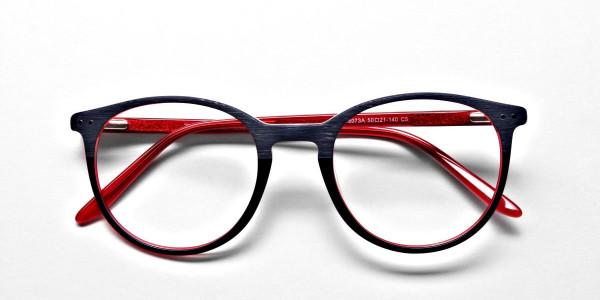 Royal Blue Round Glasses, Eyeglasses -6