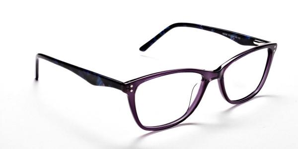 Purple & Red Retro Glasses -1