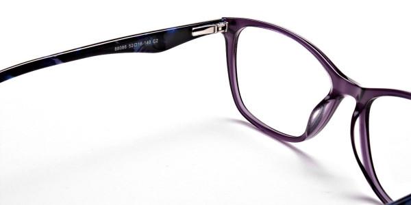 Purple & Red Retro Glasses -4