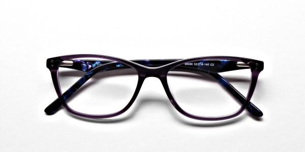 Purple & Red Retro Glasses -5