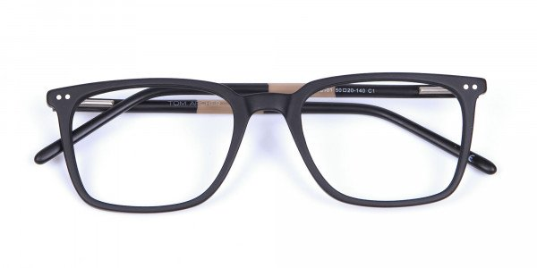 Black and Brown Pepper Eyeglasses - 5