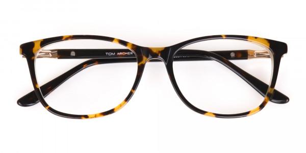 Brown Tortoise Rectangular Glasses Women in Acetate-7
