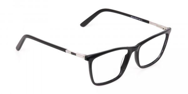 Women Black Rectangle Designer Glasses Frame-2
