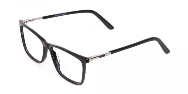 Women Black Rectangle Designer Glasses Frame-3