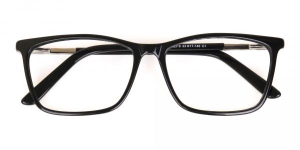Women Black Rectangle Designer Glasses Frame-6