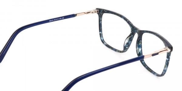Dark Emerald Green & Royal Blue Eyeglasses Women -5