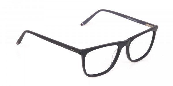 Matte Black Acetate Designer Eyeglasses Unisex-2