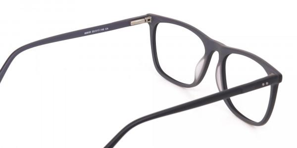 Matte Black Acetate Designer Eyeglasses Unisex-5