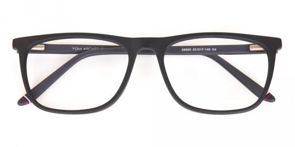 Matte Black Acetate Designer Eyeglasses Unisex-6