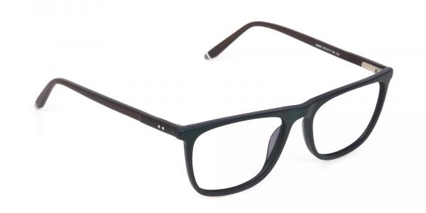 Hunter Green and Dark Brown Designer Glasses Unisex-2