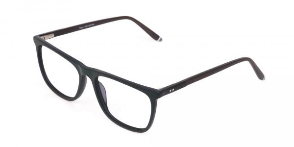 Hunter Green and Dark Brown Designer Glasses Unisex-3