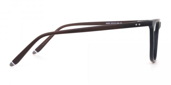 Hunter Green and Dark Brown Designer Glasses Unisex-4