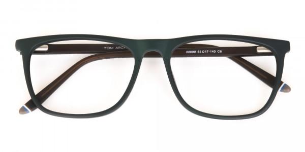 Hunter Green and Dark Brown Designer Glasses Unisex-6