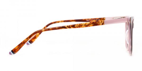 Women Designer Tortoise & Nude Pink Eyeglasses-4