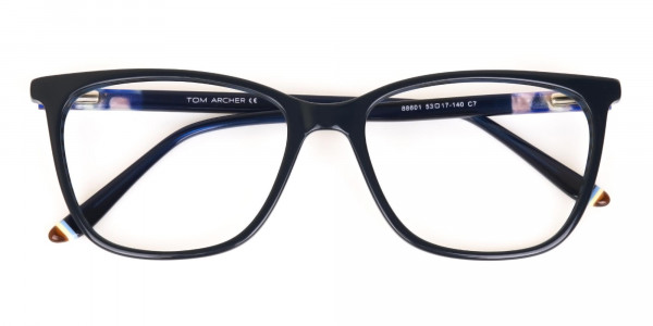 Designer Dark Dusty Blue Eyeglasses Unisex-6