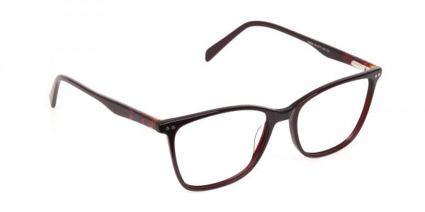 Designer Burgundy Brown Eyeglasses For Women-2