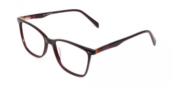 Designer Burgundy Brown Eyeglasses For Women-3