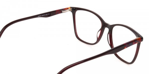 Designer Burgundy Brown Eyeglasses For Women-5