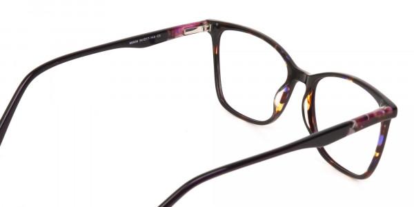 Designer Raisin Purple & Tortoise Eyeglasses Women-5