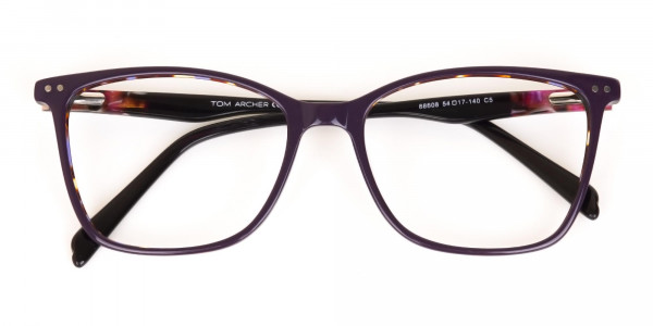 Designer Raisin Purple & Tortoise Eyeglasses Women-7