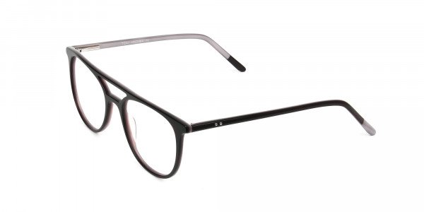 Dark Brown and Silver Lilac Aviator Spectacles - 3