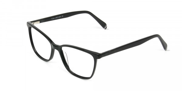 Women Black Rectangular Spectacles - 3