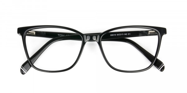 Women Black Rectangular Spectacles - 6