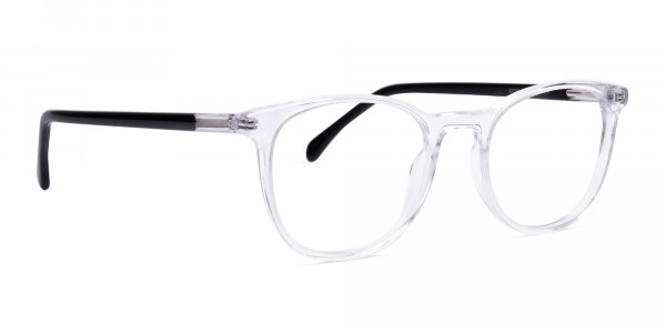 Crystal Clear Transparent Round Glasses-2