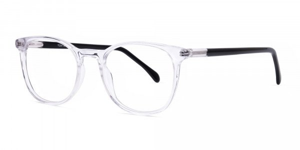 Crystal Clear Transparent Round Glasses-3