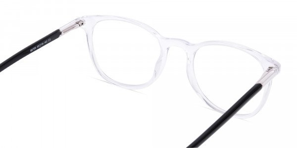Crystal Clear Transparent Round Glasses-5