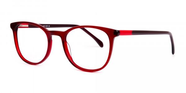 Wine-Red-Translucent-Round-Glasses-Frames-3
