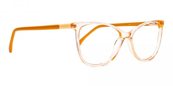 Crystal-Clear-or-Transparent-orange-Colour-Cat eye-Glasses-Frames-2