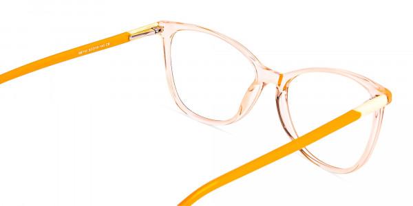 Crystal-Clear-or-Transparent-orange-Colour-Cat eye-Glasses-Frames-5
