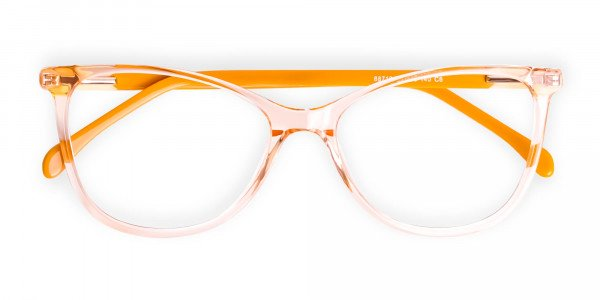 Crystal-Clear-or-Transparent-orange-Colour-Cat eye-Glasses-Frames-6