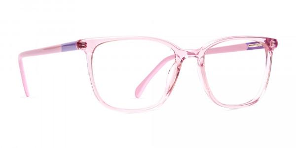 Crystal-Clear-or-Transparent-Blossom-and-Hot-Pink-wayfarer-Rectangular-Glasses-Frames-2