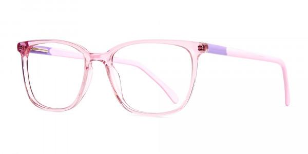 Crystal-Clear-or-Transparent-Blossom-and-Hot-Pink-wayfarer-Rectangular-Glasses-Frames-3