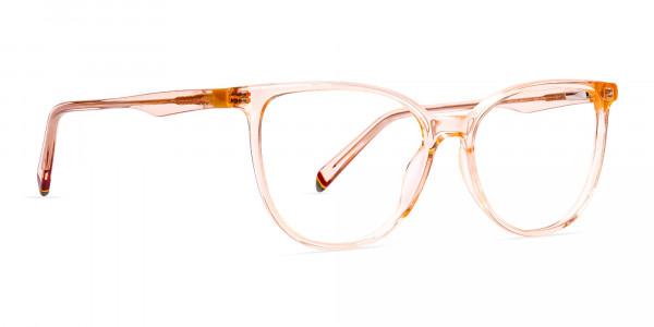 Orange-Colour-Crystal-Clear-or-Transparent-Cat-eye-Glasses-Frames-2