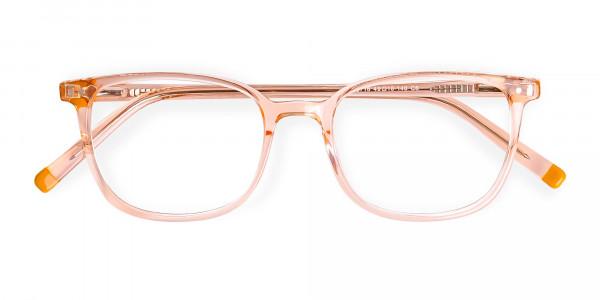 Crystal-clear-and-Transparent-Orange-Rectangular-Glasses-Frames-6