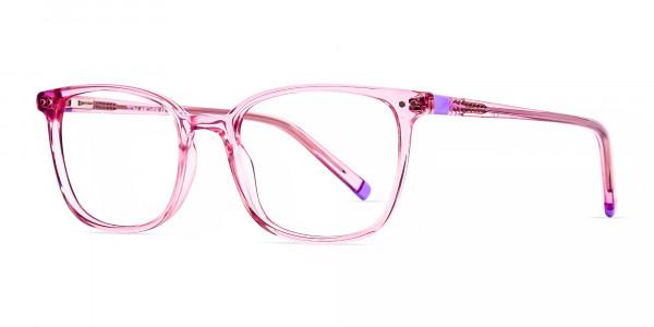 Transparent-Pink-Rectangular-Glasses-frames-3
