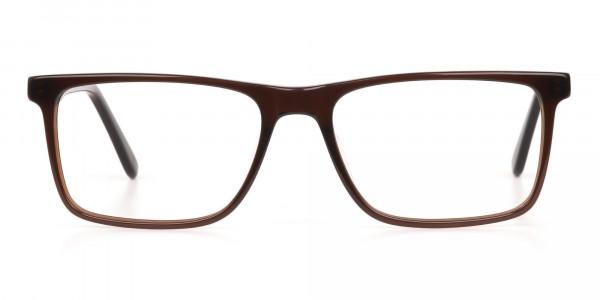 Designer Dark Mocha Brown Eyeglasses For Unisex-1