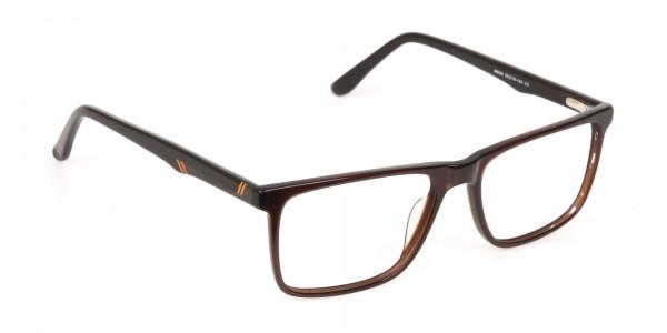 Designer Dark Mocha Brown Eyeglasses For Unisex-2