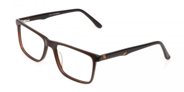 Designer Dark Mocha Brown Eyeglasses For Unisex-3