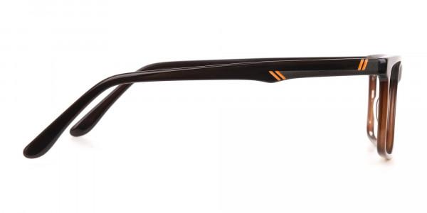Designer Dark Mocha Brown Eyeglasses For Unisex-4