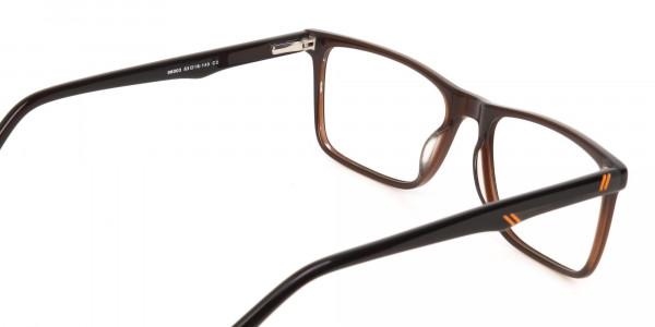 Designer Dark Mocha Brown Eyeglasses For Unisex-5