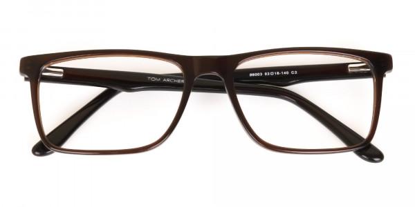 Designer Dark Mocha Brown Eyeglasses For Unisex-6