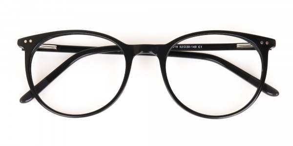 Designer Black Round Acetate Frame For Unisex-6