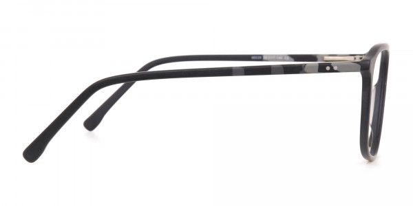 Rectangular Matte Black Double Bridge Glasses-4