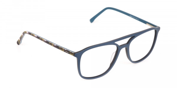 Double Bridge Frame in Turquoise & Camouflage Green -2