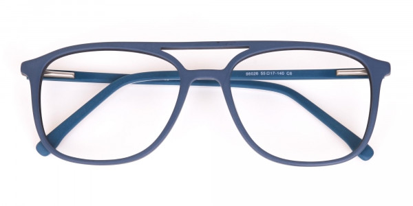 Double Bridge Frame in Turquoise & Camouflage Green -6
