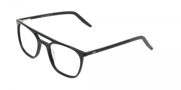 Black Aviator Spectacles in Acetate - 3